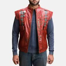 mars maroon leather vest