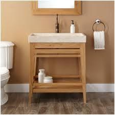 Open Shelf Vanity Bathroom Wood Open Shelf Bathroom Vanity 24 Salinas Teak Vessel Sink Vanity