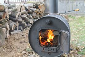 picture of building a simple barrel stove