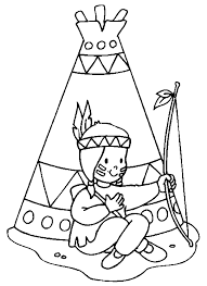 Small Picture Indian coloring pages with teepee ColoringStar