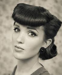 1950s per bangs hair tutorial