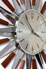 metamec inspirational large starburst wall clock