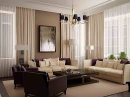 modern curtains for living room with brown stained wall design and modern chairs sofa set