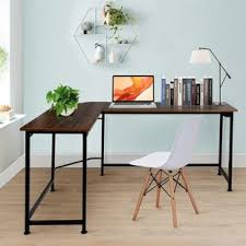 L office desk Executive Ari Lshaped Computer Desk With Hutch Wayfair Lshaped Desks Youll Love Wayfair