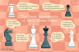 Chess Moves Chart Illustrated Guide To The Chess Pieces