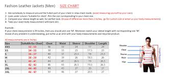 Mens Suit Size Chart Us Stylish Leather Leather Jacket For Men 9004 Dinerobe