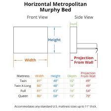standard wall beds. horizontal murphy bed dimensions standard wall beds h