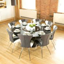 dining table and 8 chairs luxury large round black oak dining table lazy chairs b glass
