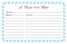 Recipe Paper Template Recipe Card Template 2