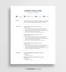 Resumemplate Free Word Ms And Cv Collateral Design Download Resume