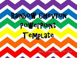 Powerpoint Chevron Template Rainbow Chevron Powerpoint Template School Ideas Pinterest