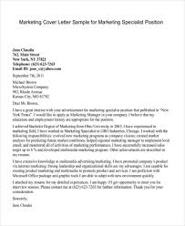 Marketing Cover Letter Sample 11 Marketing Cover Letter Templates Free Sample Example
