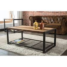 metal reclaimed wood coffee table brixton