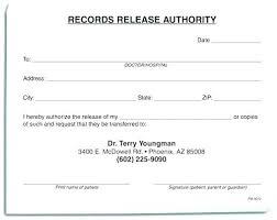 Sample Medical Records Release Form Dental Medical Release Form Template Record Records Sample