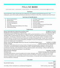 Payroll Resume