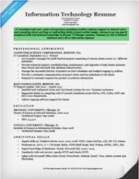 Professional Resume Objective Information Technology