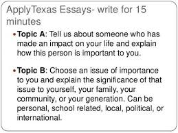 college and career readiness apply texas essay topics applytexas essay topics