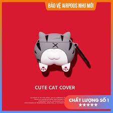 Hàng Mới Về] Case Vỏ Bao Airpods Đựng Tai Nghe Airpod 1 2 Mông Mèo Xám Siêu  Dễ Thương Bằng Silicon Dẻo