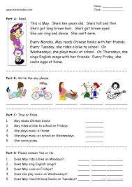 First Grade Esl Worksheets Worksheets For Grade English Worksheets ...