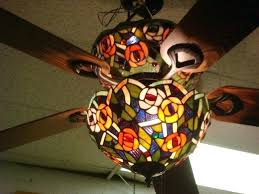 stained glass ceiling fan light covers fans hampton bay with