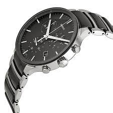 rado centrix chronograph black ceramic and steel mens watch rado dial color black gender men s