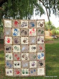 7 best images about Handprint quilts on Pinterest | Reunions ... & Family Reunion Quilt- This is such a cute idea! Ours would be a gigantic  quilt though. Adamdwight.com