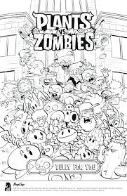 Plants Vs Zombies Coloring Pages Peashooter Free Online Plants Vs