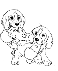 Nice Coloring Page Dogs Free Download