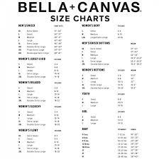 Bella Canvas Kids Size Chart 12 Conclusive Bella And Canvas Size Chart