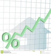 Refinance Rates Chart Home Mortgage Interest Rates Higher Chart Stock Vector