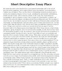 Examples Of Descriptive Essay About A Place Examples Descriptive Essay Example Of A Descriptive Essay About A