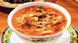Китайские супы Остро кислый суп с тофу