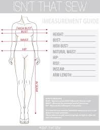 39 Extraordinary Body Measurement Chart Sewing