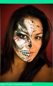 cherry blossom skull face paint roce m s rokkimidro photo beautylish