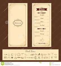 Template For Menu Card Stock Vector Illustration Of Cooking 43680778