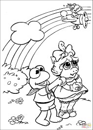 Small Picture Kermit Miss Piggy and Gonzo coloring page Free Printable
