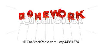 homework word homework word made from red foil balloons 3d rendered
