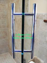 handle polished chrome 8 double pull glass shower hardware