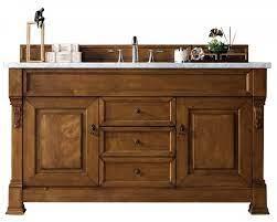 60 Inch Single Sink Bathroom Vanity In Country Oak