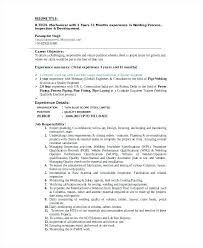 Welder Resume Interesting Welder Resume Editable Welding Template Sample Checklist