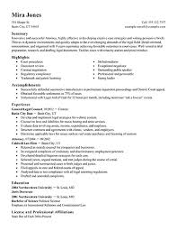 resume for lawyers
