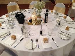 Round Table Settings For Weddings Round Table Setting Sunnybrae Estate Function Centre