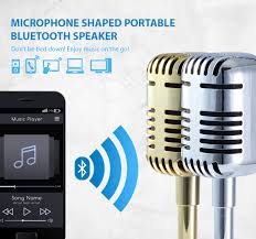 portable bluetooth speakers with microphone. craig electronics microphone shaped portable bluetooth speaker speakers with a
