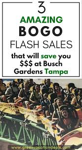 bogo busch gardens tampa bay in florida ticket get 1 free limited time offer ed admission for adventure island aquatica water parks