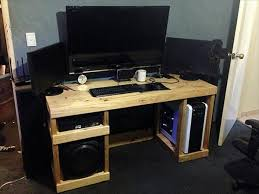 How To Make A Computer Desk Out Of Wood Diy Computer Desk Out Of Pallets  101 Pallets Computer Desk Under 50