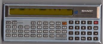 sharp calculator. file:sharp calculator pc1211.jpg sharp