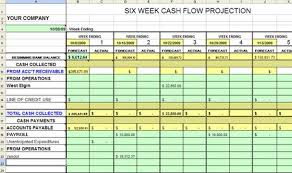 Accounts Receivable Templates Excel Six Week Cash Flow Excel Dashboards Excel Templates