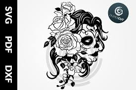 Completely free svg files for cricut, silhouette, sizzix and many other svg compatible electronic cutting machines. Female Sugar Skull Graphic By Dupercut Creative Fabrica