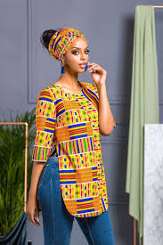 African Wear Designs Images African Print Shalla Top African Fashion African Print