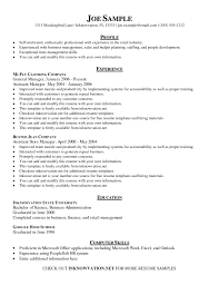 Examples Of Simple Resumes Resume Template Simple Resume Template Free Free Career Resume 18
